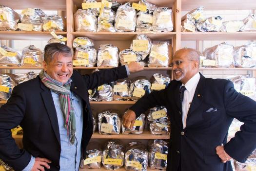 写真:(左)ディヴィッド.K(右)アンスレム・ペレラ